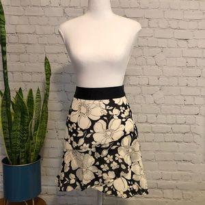 Banana Republic Silk Floral Skater Skirt - Sz 6